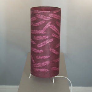 Oval Lamp Shade - P25 - Resistance Dyed Pink Fern, 30cm(w) x 20cm(h) x 22cm(d)