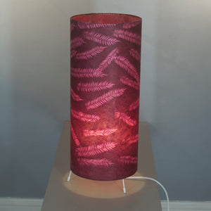 Oval Lamp Shade - P25 - Resistance Dyed Pink Fern, 40cm(w) x 20cm(h) x 30cm(d)