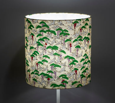 Drum Lamp Shade - W05 - Cranes, 25cm x 25cm