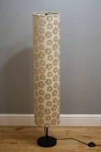 Drum Floor Lamp - P75 - Batik Star Flower Natural, 22cm(d) x 114cm(h)