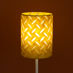 Drum Lamp Shade - P89 ~ Batik Tread Plate Yellow, 15cm(d) x 20cm(h)