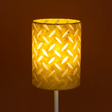 Rectangle Lamp Shade - P89 ~ Batik Tread Plate Yellow, 50cm(w) x 25cm(h) x 25cm(d)
