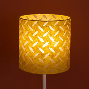 Drum Lamp Shade - P89 ~ Batik Tread Plate Yellow, 20cm(d) x 20cm(h)