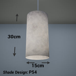 Drum Lamp Shade - P54 - Natural Lokta, 15cm(d) x 30cm(h)