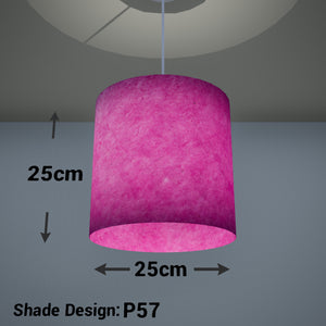 Drum Lamp Shade - P57 - Hot Pink Lokta, 25cm x 25cm