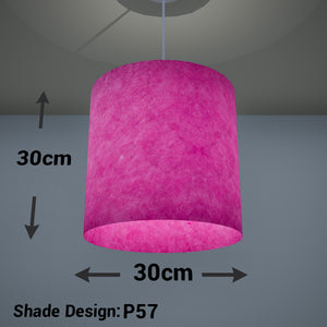 Drum Lamp Shade - P57 - Hot Pink Lokta, 30cm(d) x 30cm(h)