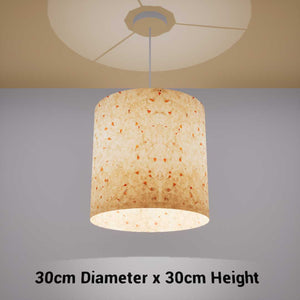 Drum Lamp Shade - P32 - Marigold Petals on Natural Lokta, 30cm(d) x 30cm(h) - Imbue Lighting