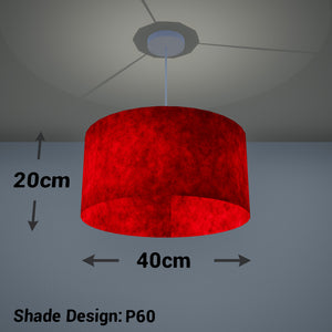 Drum Lamp Shade - P60 - Red Lokta, 40cm(d) x 20cm(h)
