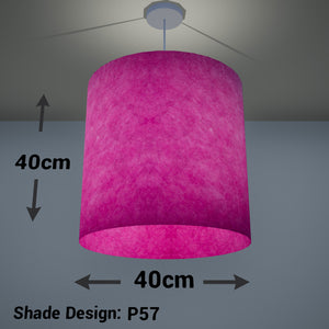 Drum Lamp Shade - P57 - Hot Pink Lokta, 40cm(d) x 40cm(h)