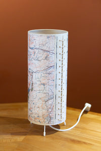 Free Standing Table Lamp - Snowdonia 1922 Cassini Map