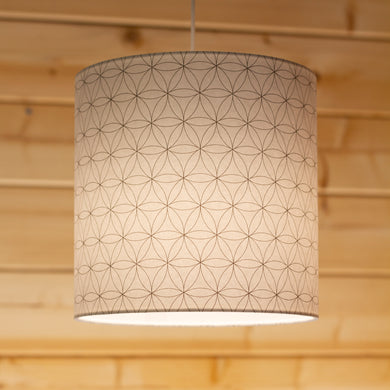 Flower of Life Print Drum Lamp Shade 20cm(d) x 20cm(h)
