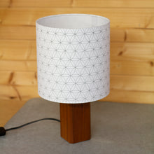 Flower of Life Print Lampshade on Oak or Sapele Lamps