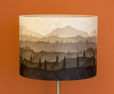 Original Ink Sketch Lamp Shade ~ Warm Grey - 40x30cm