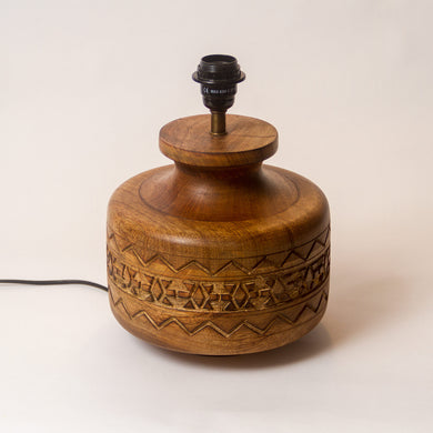 Kanpur Carved Wooden Table Lamp Base (Base only)