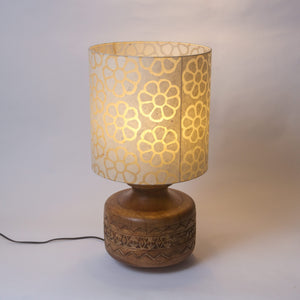 Kanpur Carved Wooden Table Lamp Base