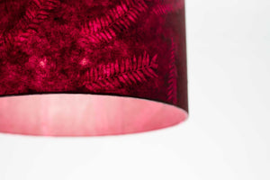 Oval Lamp Shade - P25 - Resistance Dyed Pink Fern, 20cm(w) x 20cm(h) x 13cm(d)