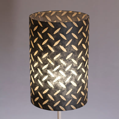 Drum Lamp Shade - P88 ~ Batik Tread Plate Grey, 20cm(d) x 30cm(h)