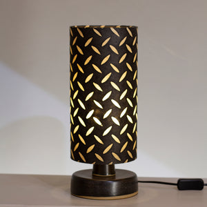 Round Grey Stoneware Table Lamp Base with 15cm X 30cm(h) Lamp Shade P11