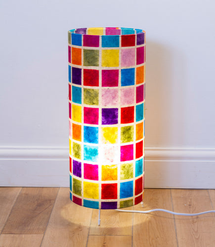 Free Standing Table Lamp Large - P01 ~ Batik Multi Square