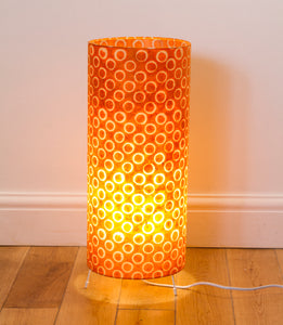 Free Standing Table Lamp Large - P03 ~ Batik Orange Circles