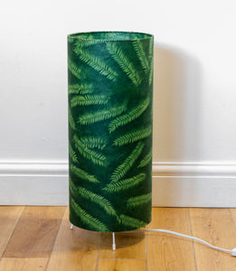 Square Lamp Shade - P27 - Resistance Dyed Green Fern, 40cm(w) x 40cm(h) x 40cm(d)