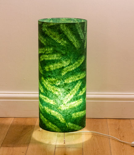 Free Standing Table Lamp Large - P27 - Green Fern Resistance dyed Lokta