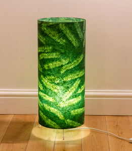 Oval Lamp Shade - P27 - Resistance Dyed Green Fern, 20cm(w) x 30cm(h) x 13cm(d)