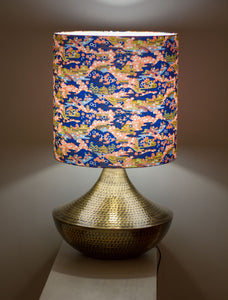 Large Patna Table Lamp with a Washi Drum Lampshade W06