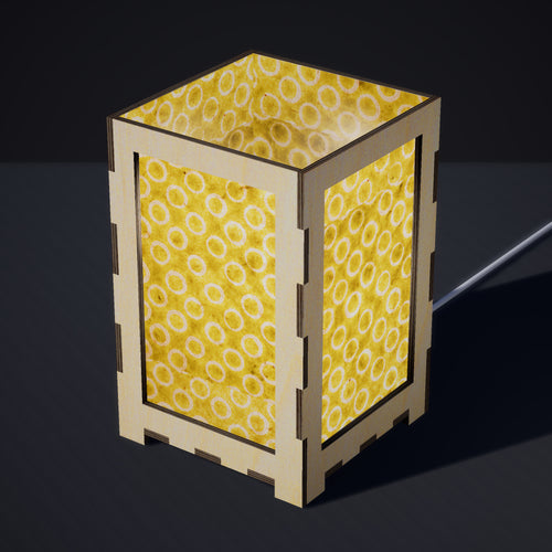 Laser Cut Plywood Table Lamp - Large - P02 ~ Batik Lime Circles