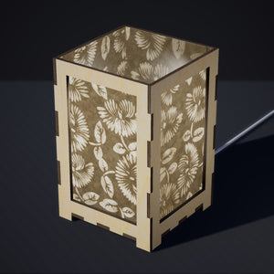 Laser Cut Plywood Table Lamp - Large - P09 ~ Batik Peony on Natural