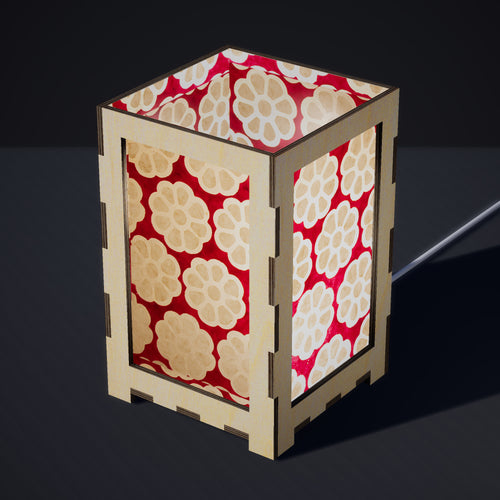 Laser Cut Plywood Table Lamp - Large - P22 ~ Batik Big Flower on Hot Pink