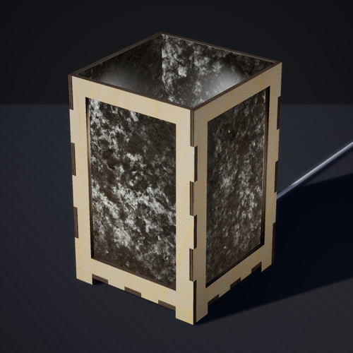 Laser Cut Plywood Table Lamp - Large - P55 ~ Black Lokta