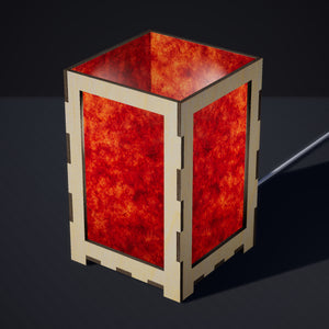 Laser Cut Plywood Table Lamp - Large - P63 ~ Terracotta Lokta