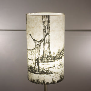 Drum Lamp Shade - Deers on Natural, 20cm(d) x 35cm(h)