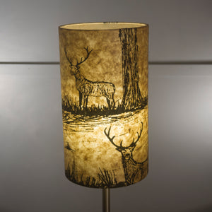 Drum Lamp Shade - Deers on Light Brown, 20cm(d) x 35cm(h)