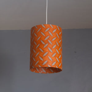 Drum Lamp Shade - P91 - Batik Tread Plate Orange, 15cm(d) x 20cm(h)