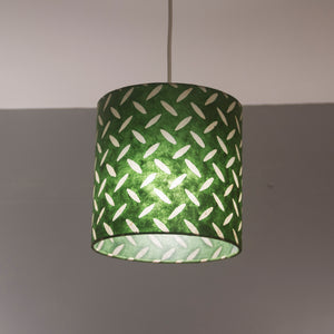 Drum Lamp Shade - P96 - Batik Tread Plate Green, 20cm(d) x 20cm(h)