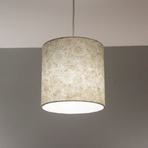 Drum Lamp Shade - P69 - Garden Gold on Natural, 20cm(d) x 20cm(h)