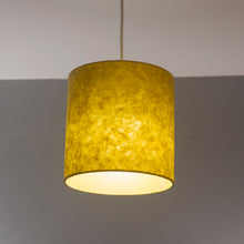 Rectangle Lamp Shade - P62 - Yellow Lokta, 30cm(w) x 30cm(h) x 15cm(d)