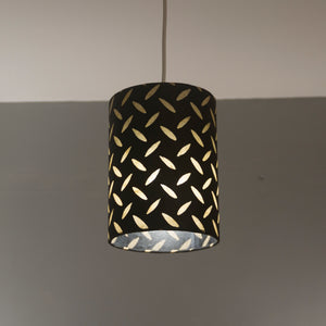 Drum Lamp Shade - P11 - Batik Tread Plate Black, 40cm(d) x 20cm(h)