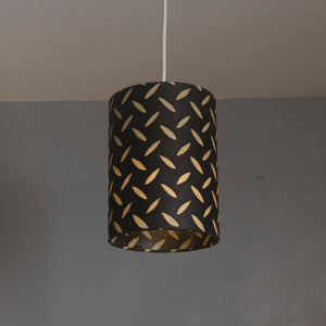 Triangle Lamp Shade - P11 - Batik Tread Plate Black, 40cm(w) x 20cm(h)