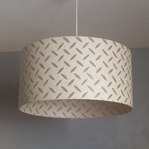 Oval Lamp Shade - P10 - Batik Tread Plate Natural, 30cm(w) x 30cm(h) x 22cm(d)