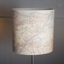 30cm(w) x 30cm(h) x 22cm(d) Oval Lamp Shade - Cassini Historical Map (1903 - 1910) OS Landranger
