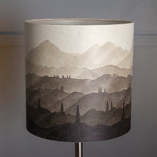 Hand-drawn Original Ink Sketch Lamp Shade on a Large Stoneware Table Lamp
