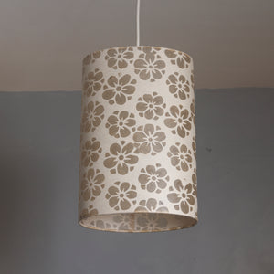 Oval Lamp Shade - P75 - Batik Star Flower Natural, 20cm(w) x 30cm(h) x 13cm(d)