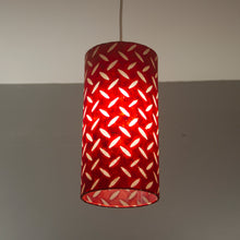 Square Lamp Shade - P90 ~ Batik Tread Plate Red, 40cm(w) x 20cm(h) x 40cm(d)