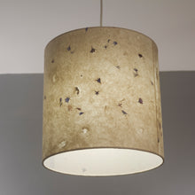 Drum Lamp Shade - P34 - Cornflower Petals on Natural Lokta, 30cm(d) x 30cm(h)