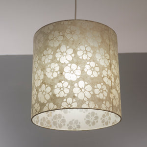 Drum Lamp Shade - P75 - Batik Star Flower Natural, 30cm(d) x 30cm(h)