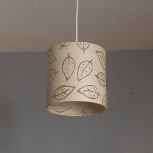 Drum Lamp Shade - P28 - Batik Leaf on Natural, 15cm(d) x 15cm(h)