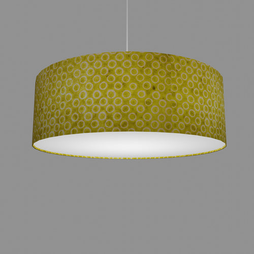 Drum Lamp Shade - P02 - Batik Lime Circles, 60cm(d) x 20cm(h)